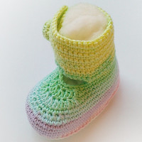 Crochet baby booties, Crochet baby shoes, Spring crochet baby slippers, Newborn baby booties, Pretty infant footwear, Toddler shoes