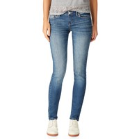 Aeropostale  Womens Bayla Skinny Core Medium Wash Jeans (Short)