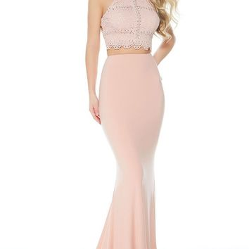 Alyce Paris - 60248 Two Piece Fitted High Halter Mermaid Gown