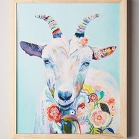 Mooreland Wall Art, Goat by Starla Michelle Halfmann Turquoise One Size Decor