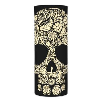 Floral Sugar Skull Flameless Candle