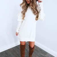 Never Leave Me Dress: Ivory