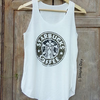 Starbucks Tank Top Hipster tank top Tank top women Fitness top Summer Cloth Gift Summer fashion tshirt Vintage tank tops for woman