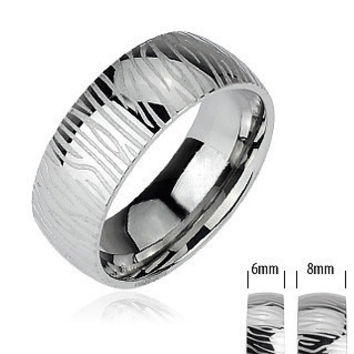 Silver Tiger - FINAL SALE Bold and Powerful Look Stainless Steel Natural Design Ring