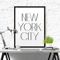 New York City Typography Print New York Print New York Poster New York Gift New York Art New York Pride New York City New York Decor FASHION