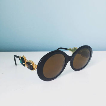 Vintage Moschino x Persol Bejeweled Sunglasses