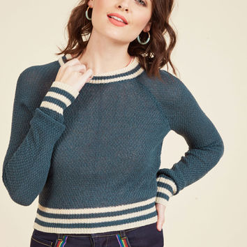 Midtown Mixer Sweater in Navy | Mod Retro Vintage Sweaters | ModCloth.com