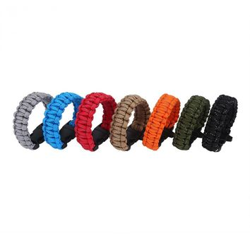 4mm Heavy Duty Reflective Paracord Bracelet Survival Bracelet Outdoor Camping Quick Release Climbing Emergency equipment