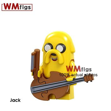PG1269 Jack Jake Violin Dog Adventure Time Brick Building Blocks Kits Cute Cartoon Girls Birthday Gifts Toys for Children Kids