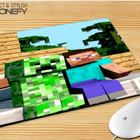 Minecraft Steve Creeper Mousepad Mouse Pad|iPhonefy