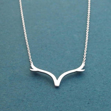 Deer, Antler, Gold, Silver, Necklace, Animal, Necklace, Birthday, Best friends, Sister, Gift, Jewelry
