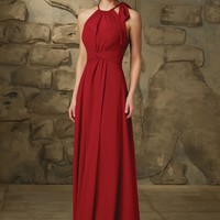 Morilee 20463 Halter Chiffon Bridesmaid Dress
