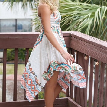 Summer Loving Handkerchief Hem Dress