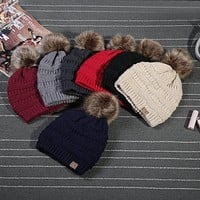 2017 Rushed Special Solid Stretch Cable Knit Slouch Cc Beanie Skully Warm Ski Hat