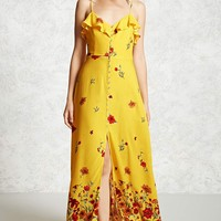 Floral Button-Down Maxi Dress