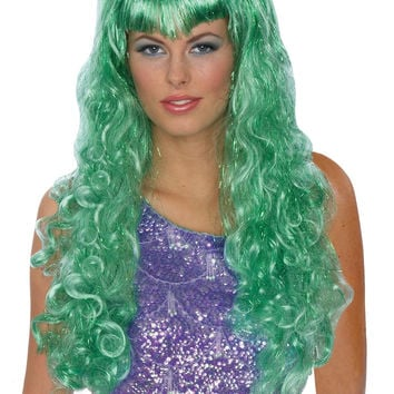 Mermaid Wig Green