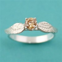 Harry Potter Golden Snitch Engagement Ring - Spiffing Jewelry