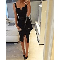 Women Split Party Dress