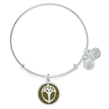 Alex and Ani Avocado Unexpected Miracles Charm Bangle - Shiny Silve...