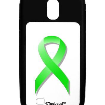 Lyme Disease Awareness Ribbon - Lime Green Galaxy S4 Case  by TooLoud