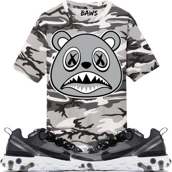 Shadow Baws Camo Sneaker Tees Shirt - Nike React Element 87 Anthracite