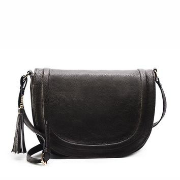 Large Crossbody Purses with Tassel and Long Over the Shoulder Strap