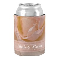 Pale Pink Rose Wedding Can Cooler