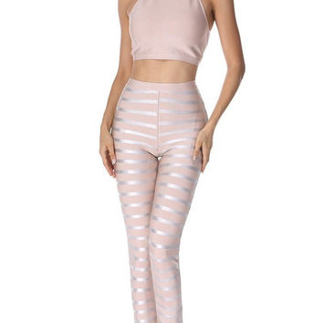 Bandage Crop Top And Pants Set