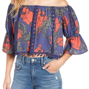 Tularosa 'Alexa' Floral Print Off the Shoulder Top