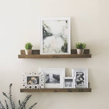 Ledge Shelf, Floating Shelves, Wall Shelf, Picture Ledge Shelf, Gallery Shelf, Nursery, Bookshelf