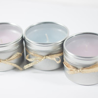 3-Pack of 4oz Fragrance Inspired Candles: Jimmy Choo, L'Eau D'Issey, Flowerbomb Perfect Gift for Birthdays Weddings Party Favors