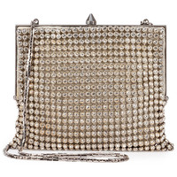Saint Laurent Bijoux Crystal Mesh Shoulder Bag