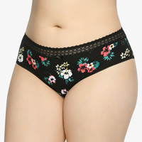 Tropical Print Cotton Hipster Panty