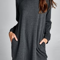 Fireside View Sweatshirt Dress (more color options)
