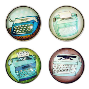 Typewriter Magnet Set