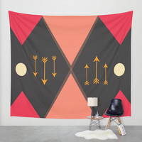 Desert Mountains Pattern Wall Tapestry by DuckyB (Brandi)