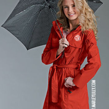Monogrammed Ladies Trench Rain Coat | Outerwear | Marley Lilly