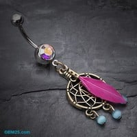 Classic Bronze Tone Dream Catcher Belly Ring