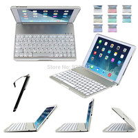 For Apple iPad Air 2 3-in-1 Ultra Slim Shell Aluminium Folio ABS Wireless Bluetooth Keyboard Carrying Stand Case Cover