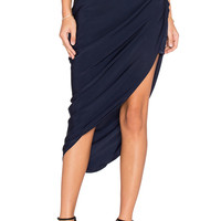 MLM Label Pullback Midi Skirt in Blue | REVOLVE