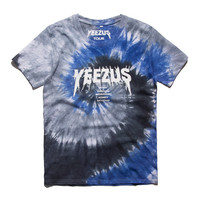 Yeezus Tour Tie Dye T-Shirt -Blue