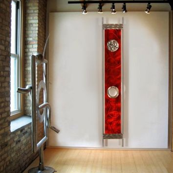 Reflecting Time Pendulum Clock / Metal Abstract by statements2000
