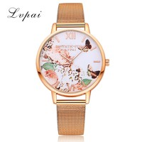 Fashion Casual Rose Gold Sport Watch Women Quartz Watch Lvpai Brand Luxury Bracelet Watches Alloy Dress Ladies Female Wristwatch