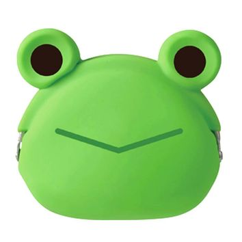 Green Froggy Frog Shaped Mimi Pochi Animal Friends Silicone Clasp Coin Purse Pouch