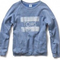 Unisex Heather Blue TOMS Classic Crew.