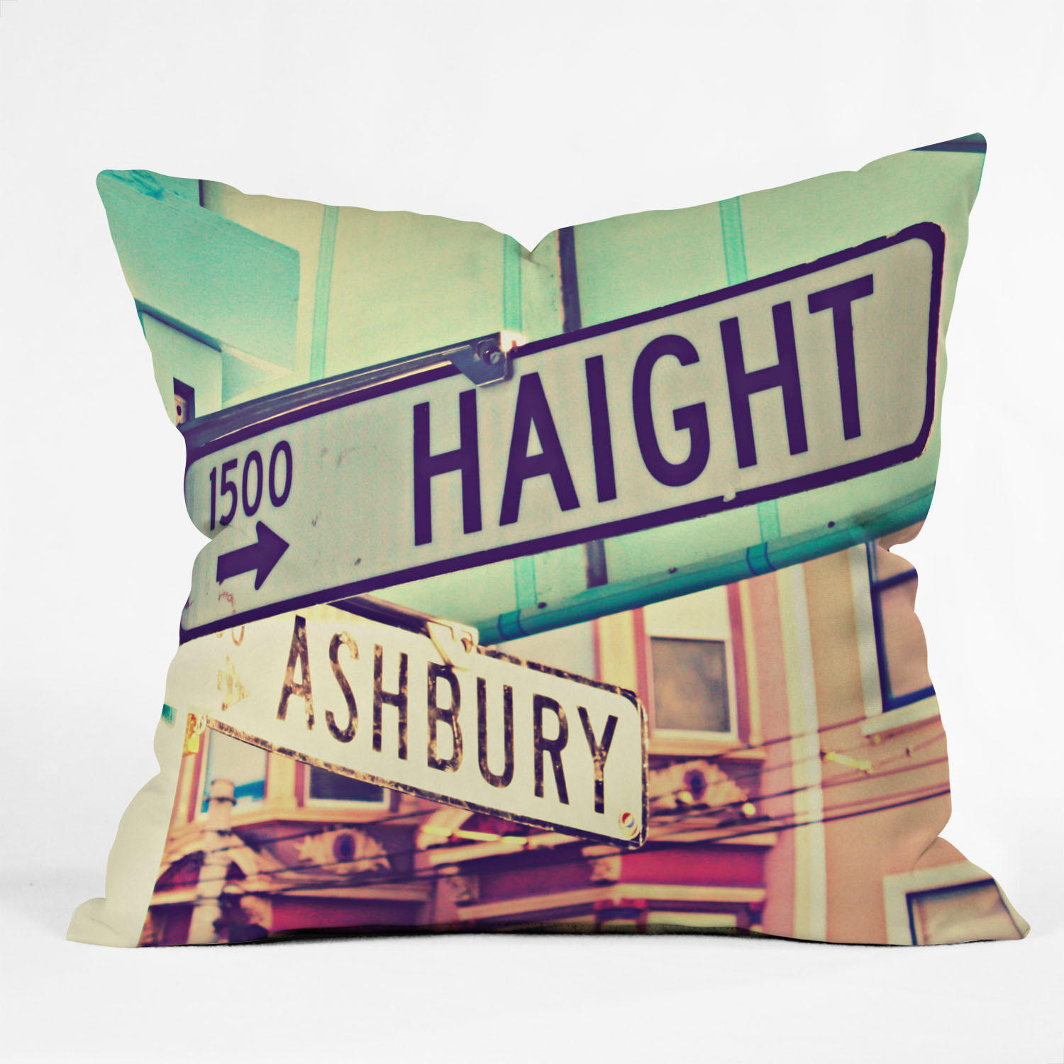 Shannon Clark Haight Ashbury Throw Pillow