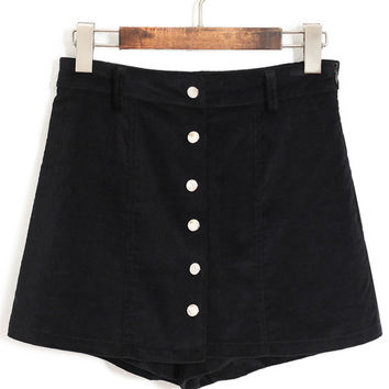 Buttoned Straight Shorts