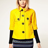 ASOS | ASOS PETITE Exclusive 60s Jacket With Ribbed Sleeve at ASOS