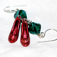 WIzard Of Oz,Ruby Red Slipper Earrings, Dorothy, Earrings, Oz Jewelry  NEW