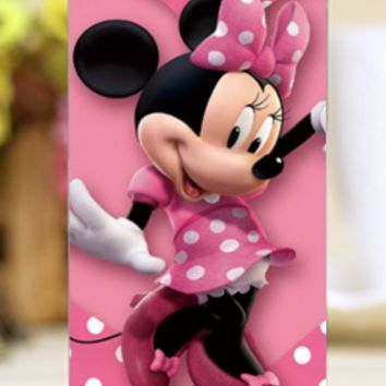 Pink Minnie Design transparent cover for iPhone Hard Shell Cases